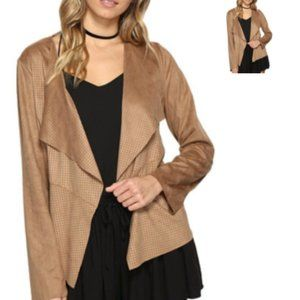 jack bb dakota faux suede jacket - size s